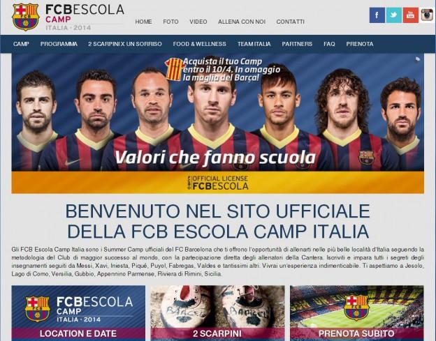 Barcelona Escola Camp Italia: Summer Camp ufficiali del FC Barcelona