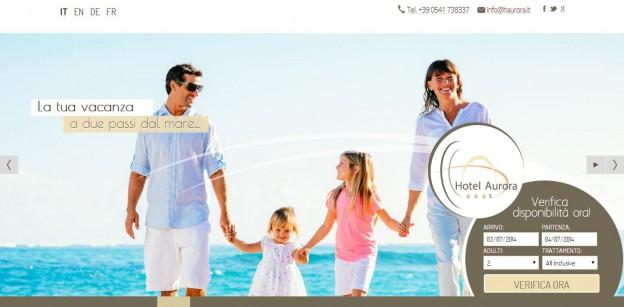 Hotel Aurora: sito responsive con booking per preventivi