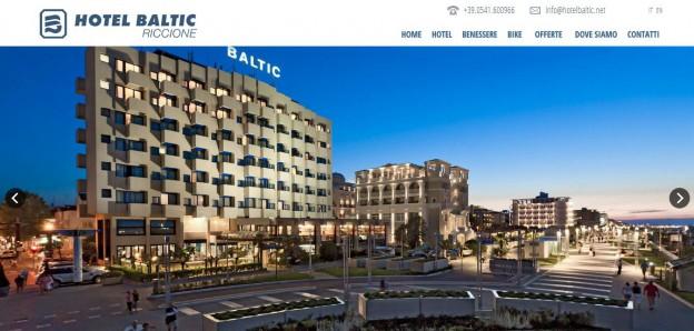 Hotel Baltic: sito social per l'albergo sul lungo mare di Riccione