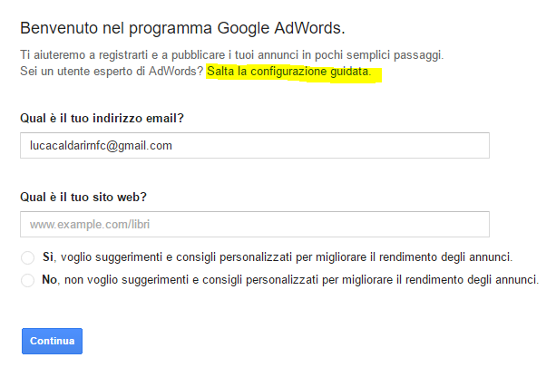 google adwords registration