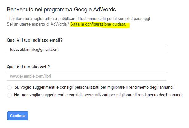 google adwords registration